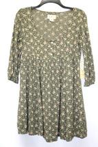 Denim & Supply Ralph Lauren Dress Tunic Floral Print Henley Linden Olive... - $48.99