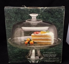Indiana Glass Cake Stand: 2PC Footed Domed, & Salad Punch Serving Pedest... - $48.37