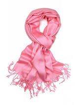 Berry Pink Fashion Pashmina Shawl Scarf 64 x 28 inches Tassels Womens - $9.11