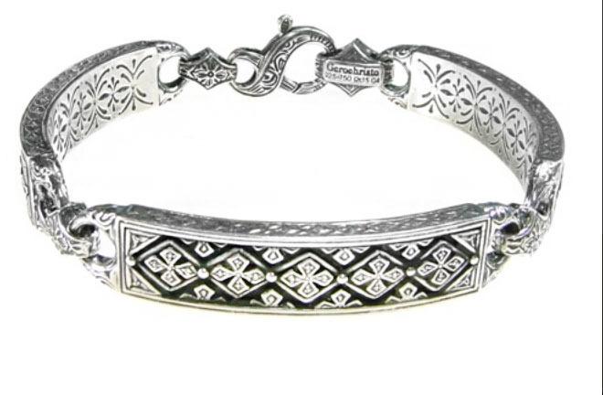 Gerochristo 6335 -  Solid Sterling Silver Medieval-Byzantine Bracelet