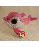 """TY Beanie Boos SPARKLES the Dolphin Glitter Eyes 8"""" New with Tag - $9.85"""