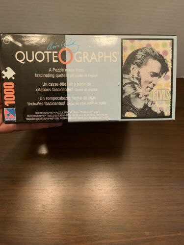 Elvis Presley Puzzle Made From Quotes 1000 Pcs Plus Wall Poster Quote O Graphs image 6