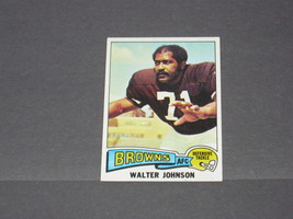 1975 TOPPS CLEVELAND BROWNS TRADING CARD....#463 WALTER JOHNSON - $2.75