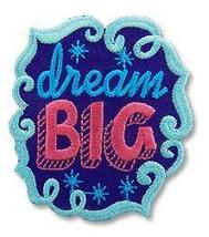 Cub Girl Boy DREAM BIG Embroidered Iron-On Fun Patch Crests Badge Scout ... - $4.90