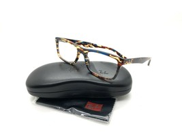 1e17ccc10c766 NEW RAY BAN RB 5287 5711 SPOTTED BROWN   BLUE AUTHENTIC EYEGLASSES FRAME.
