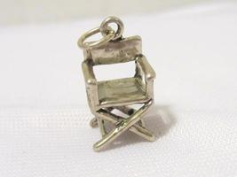 Sterling Silver Vtg Universal Studios Director Chair 3D Solid Figural Ch... - €10,15 EUR