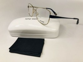 New Nine West NW1068 717 Gold Eyeglasses  51mm with Case & Cloth - $44.50