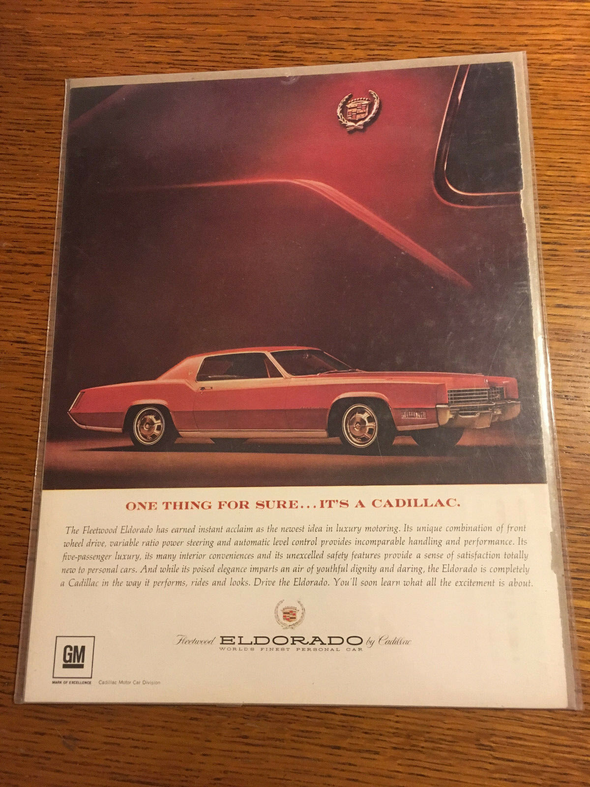 "Vintage Original 1967 - Cadillac Fleetwood Eldorado  Photo Print  Ad 8.5""x 11"" - $4.70"