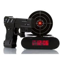 Gadget Target Laser Shooting Gun Alarm Digital Electronic Gaming Clock Gift - $33.22