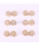 8pair New design jewelry round shaped mirco pave cz A-Z Letter Stud Earr... - $38.02