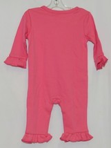 Blanks Boutique Pink Long Sleeve Snap Up Ruffle Romper Size 6M image 2