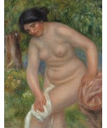 The Bather (Gabrielle Wiping), 1909 - 24x32 inch Canvas Wall Art Home Decor - $51.99