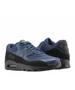 Nike Air Max 90 Essential Sneakers Black Midnight Navy Blue Trainers AJ1... - $93.49