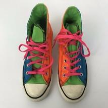 Men Converse Sneakers Neon Multi Colors Size 5 - $19.79