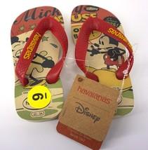 Disney Mickey Mouse Cartoon Havaianas Kids Size USA 9C 23-24 Flip Flops - $13.72
