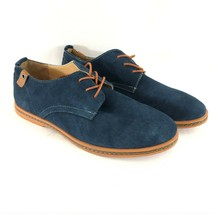 Kunsto Mens Oxford Lace Up Suede Dress Shoes Blue Size 11 - $36.76