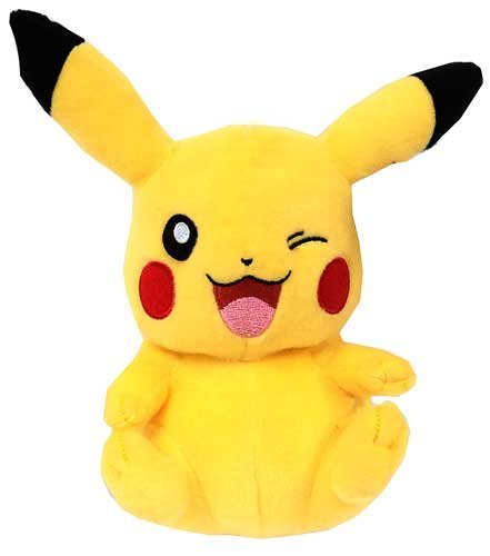 8 Inch Officially Licensed Winking Pikachu Pokemon Plush with Tags