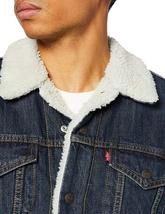 Levi's Strauss Men's Sherpa Lined Cotton Denim Jean Trucker Jacket 163650115 image 4