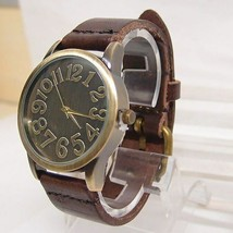 Hot Sales Vintage Genuine Cow Leather Watch Men Women Punk Military Quartz - $8.51