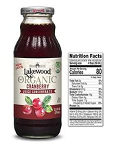 Lakewood Organic Cranberry Concentrate Juice, 12.5 Ounce Pack of 6