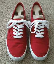 Sneakers Red Canvas City Sneaks Womens Size 10 (Run a Little Narrow) - $10.95
