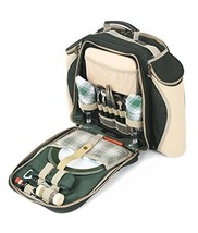 Greenfield Collection Deluxe Forest Green Picnic Backpack Hamper for Two... - $1.001,55 MXN
