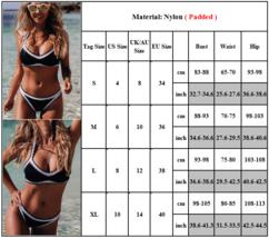 Womens Halterneck Bikini Set Push Up Padded Summer Beachwear Swimwear Swimsuit image 2