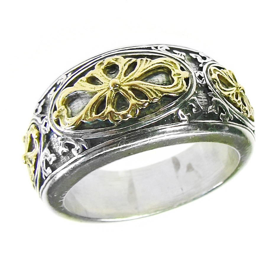 02002729 gerochristo 2729 byzantine medieval ornate band ring 1
