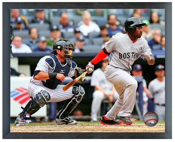 "Jackie Bradley Jr. Boston Red Sox - 11"" x 14"" Photo in a Glassless Sports Frame"