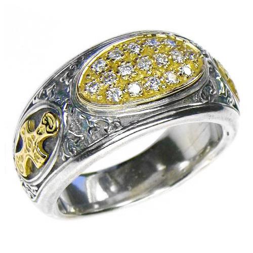 02002620 gerochristo 2620 medieval byzantine cross diamonds ring 1