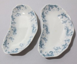 2 Antique L.S.&  S Lazarus Strauss & Sons  Bone Dishes England Orleans pattern - $25.00