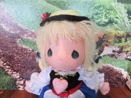 "Precious Moments helga Doll the worlds children yellow yarn  Hair 13"" - $26.73"
