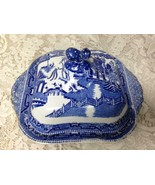Antique, Ridgway, England, Blue Willow Covered Bowl-Soup Tureen 10.5inW ... - $118.70