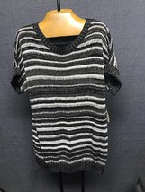 NWT! coldwater creek twinkle stripe s/sleeve sweater size 1x retail $99.95 - $14.01