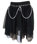 Tripp black gothic mini skirt size Medium Mesh Punk Rock N Roll Unique & Funky  - $15.95