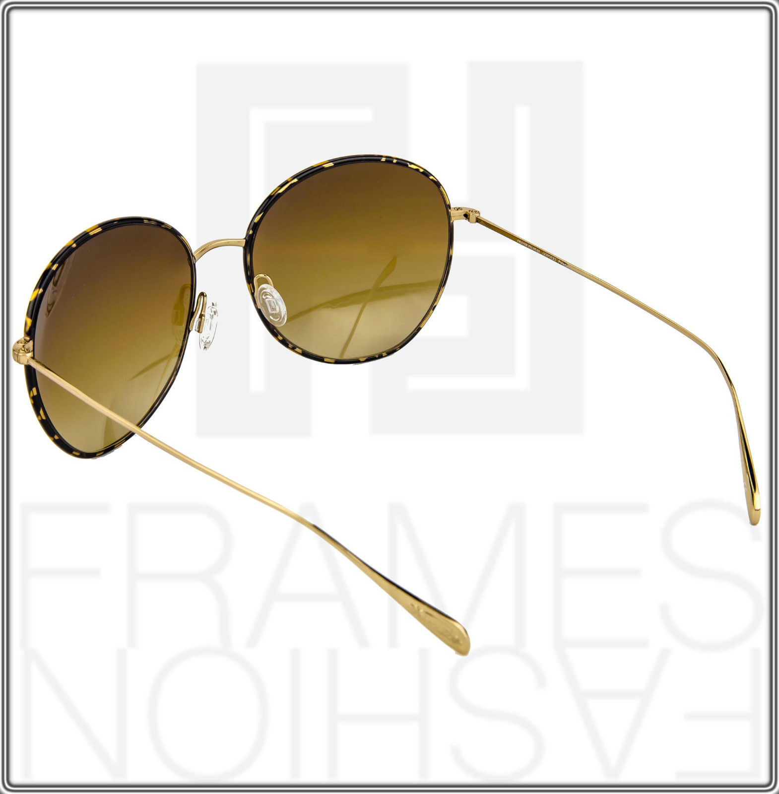 OLIVER PEOPLES BLONDELL Gold Titanium Brown Polarized Round Sunglasses OV 1102ST image 5