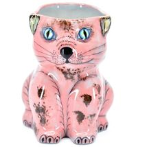 Ceramic Hand Painted Kitten Cat Figure Coffee Cup Mug Handmade Guatemala image 6