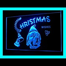 150043B Christmas Saint Bernard Dog Gift Christmas Tree Display LED Light Sign - $18.00