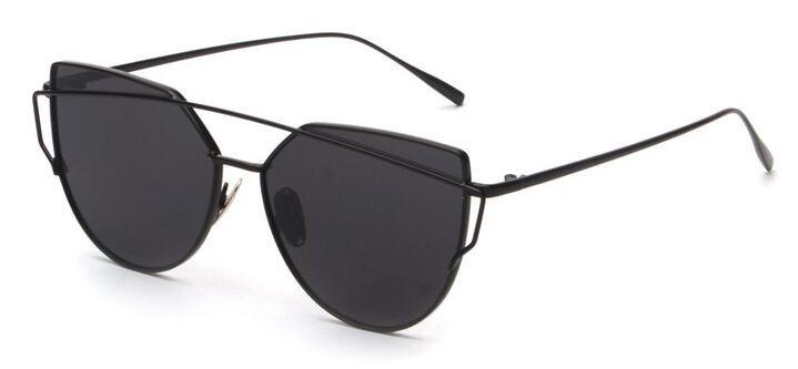 Rose Gold Cat Eye Aviator Mirror Flat Top Sunglasses Sun Glasses Women's NWT