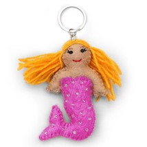 Felt Mermaid Key Chain - $15.00