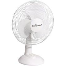 """Brentwood Koolzone 12"""" Oscillating Desk Fan BTWF12DW - $47.37"""