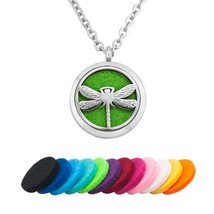 Dragonfly Aromatherapy Essential Oil Diffuser Necklace Locket Pendant,1... - $45.12