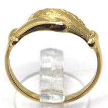 Yellow Gold Ring 750 18K, Santa Rita, Hands, Polished and Satin, Italy Made image 3