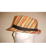 "Hawaiian Beach Adult Unisex Brown Straw Polyester Fedora 5 3/4"" x 7 1/2""... - $19.79"