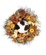 Darice Pumpkin and Magnolia Wreath: 22 inches w - $54.99