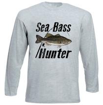 SEA BASS HUNTER - NEW COTTON GREY TSHIRT - $24.48