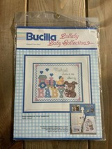 Vintage Bucilla Baby Bunny N Toys Cross Stitch Lullaby Collection 40355 USA - $18.76