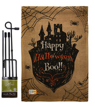 Happy Halloween Boo Burlap - Impressions Decorative Metal Garden Pole Fl... - $33.97