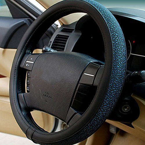 PANDA SUPERSTORE Carved Design Steering Wheel Cover