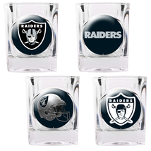 Oakland Raiders 4 piece Collector's Shot Glass Set  - $35.66